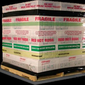 Box with Printed Stretchwrap